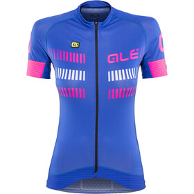 Alé Cycling Graphics PRR Strada Maillot manga corta Mujer, blue light-fluo pink-white
